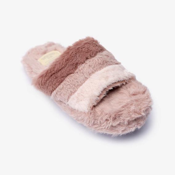 Pantuflas Rayas Pink Mujer Lounge