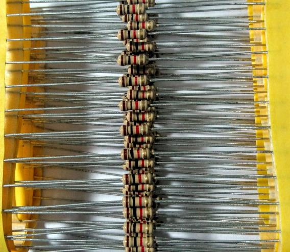 100pçs Resistor 1k 1/4w 5%