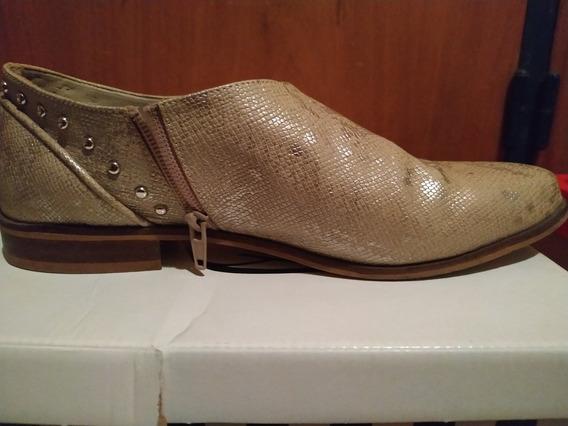 Zapato Mujer Talle 39 Dorado