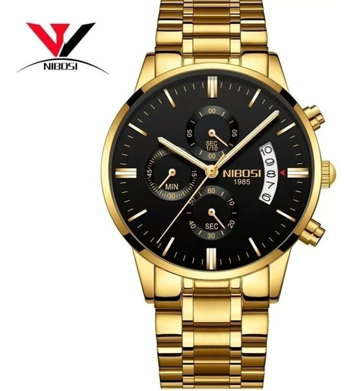 Relógio Nibosi 1985 A Prova De Água Original Modelo 2309