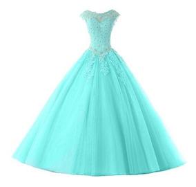 225962ac51fd Vestido 15 Anos Verde Agua - Calçados, Roupas e Bolsas com o ...