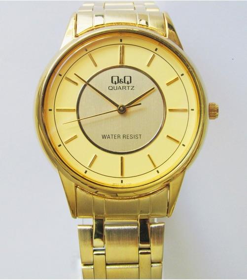 Relógio Q & Q Miyota Masculino Folhado Q1589400l