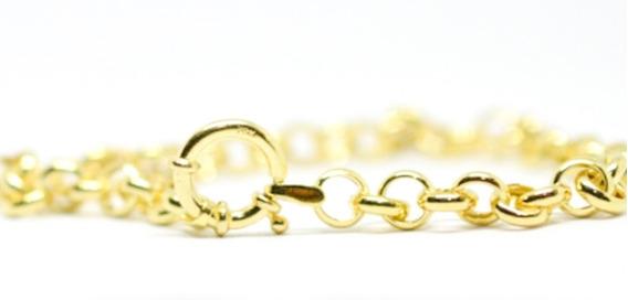 Pulseira Portuguesa Ouro 18k 750 19 Cm