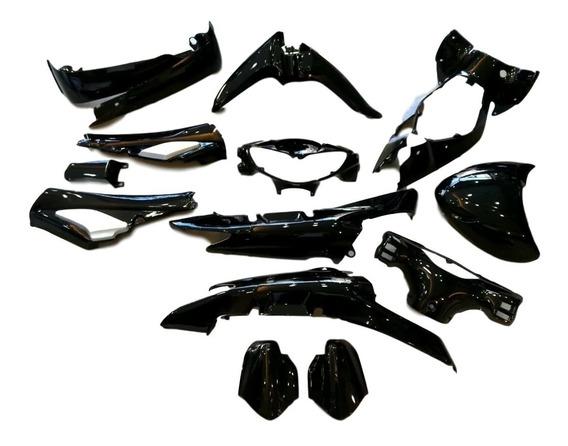 Kit Plasticos Cachas Guerrero G110 Dl Negro