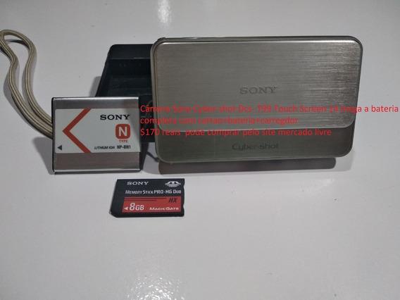 Câmera Sony Cyber-shot Dcs- T99 Touch Screen Envio Hj