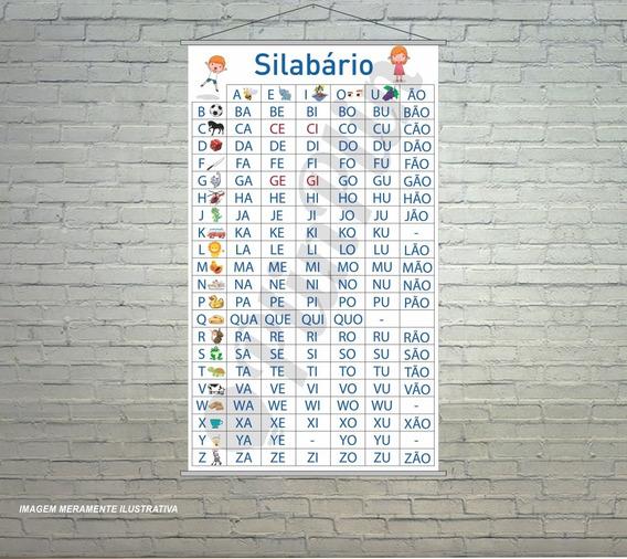 Banner Silabário Simples Escolar Plin 120x65