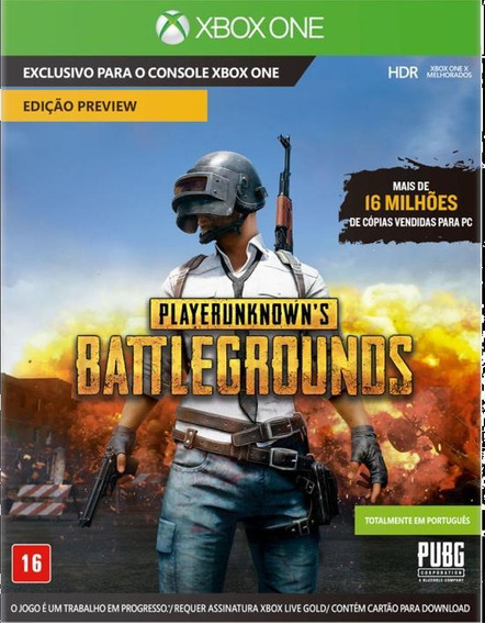 Jogo Playerunknowns Battlegrounds Pubg Original Xbox One