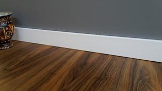 Rodapé Poliestireno 7cm Alt Branco Liso (valor Do M) Rl70