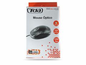 Mouse Óptico Tda Preto