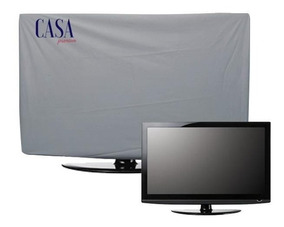 Capa Luxo Protetora Tv Led Lcd Corino Impermeável Cor Cinza