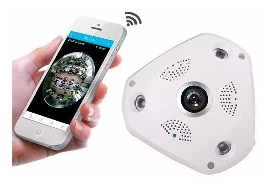 Câmera Panorâmica Teto Segurança 3d Vrcam Hd 1.3mp Wifi 360º