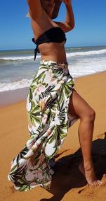 Saída De Praia, Saia Pareô, Duda Floral, Canga Luxo, Moda