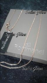 Cordão Elo Diamantado Masculino 60cm Rommanel 531659