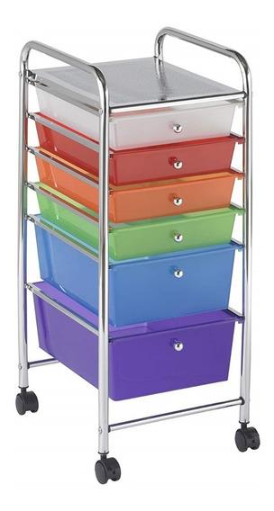 Cajonera Organizador Carrito 6 Cajones Multicolor Msi
