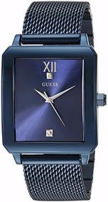 Relógio Guess Stailess Diamond Cor Azul (modelo U1074g2 )
