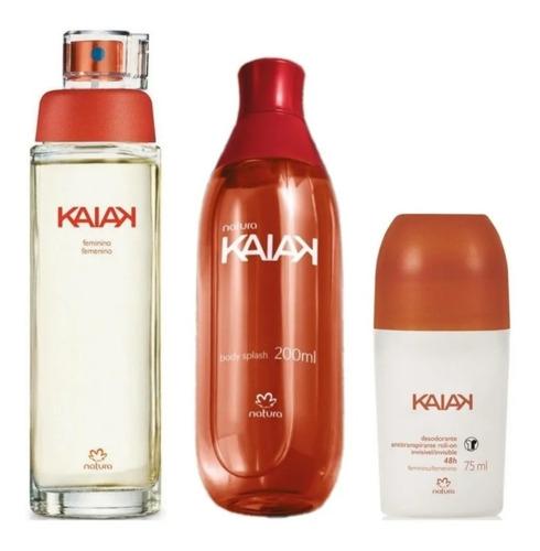 Perfume Kaiak Clásica + Splash + Desodorante Natura Dama