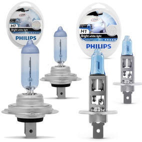 Kit Lampada Philips Crystal Vision Ultra H7 + H1 + H1 4300k