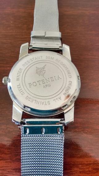 Relógio Unisex - Quartz - Prateado