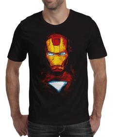 Camisa Super Herois Homem Ferro Tony Stark Marvel Avengers
