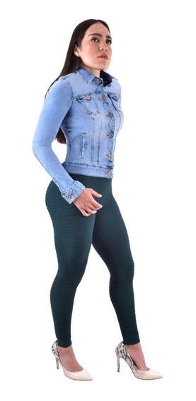 Paquete Jeans Mas Chamarra Mujer Colombiano Levanta Pompa