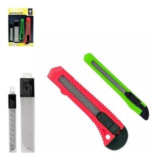 Kit Com 2 Estiletes E 2 Refil Cortar Vermelho E Verde