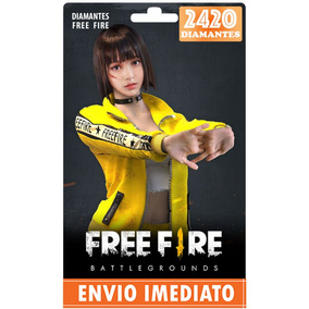 Free Fire 2200 Diamantes +220 Bônus (2420) Recarga P/ Conta