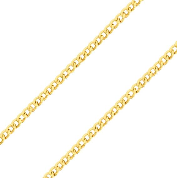 Corrente Masculina Cordão Grumet 70 Cm Ouro 18k 750 Colar