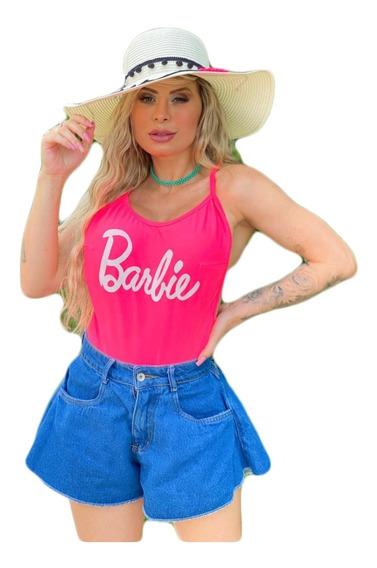 Body Bore Barbie Cavado Feminino Moda Blogueira