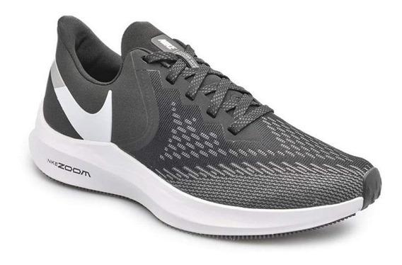 Zapatillas Nike Air Zoom Winflo 6 Mujer Running Aq8228-003