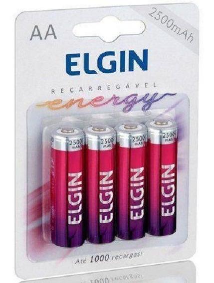 Pilha Recarregável Aa 2500mah Blister C/4 Elgin - Original