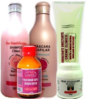 Kit Para Cabelos Quimicamente Tratados