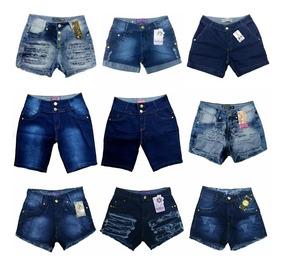 Roupas Femininas Atacado Kit De 04 Bermuda Jeans Feminina