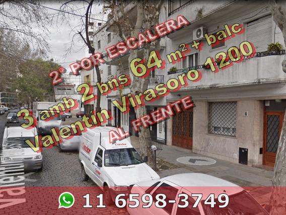 Venta Ph Villa Crespo 3 Ambientes 2 Baños Frente Balcón 641