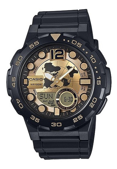 Relógio Casio Masculino Aeq-100bw-9avdf