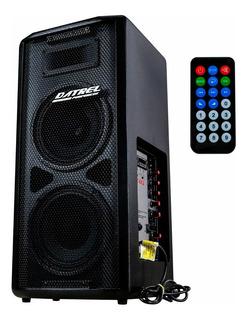 Caixa De Som Ativa 2 Falantes 8 Datrel Usb Bluetooth