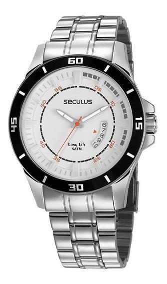 Relógio Seculus Masculino 28965g0svna2 Esportivo Prateado