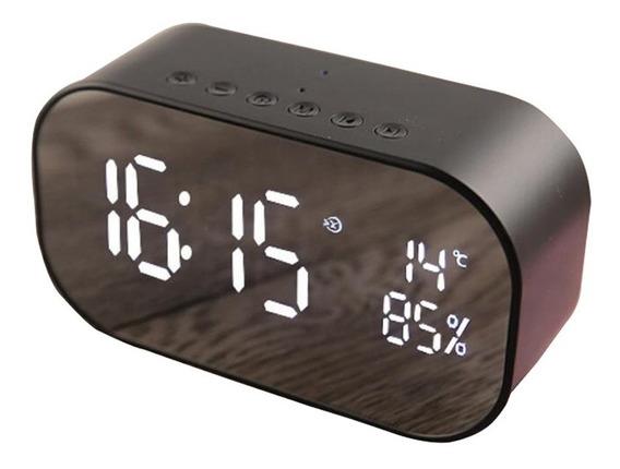 Caixa De Som Portatil Bluetooth Com Relogio Despertador