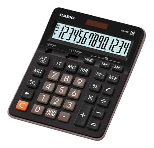 Calculadora Casio Tienda Y Campo Gx-14b Color Negro Original