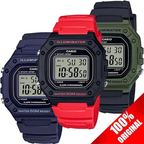 Reloj Casio W218 Sumergible - 7 Años Bateria Varios Colores