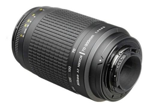Lente Nikon 70-300mm Af Zoom F/4-5.6g Com Parasol Garantia De 01 Ano