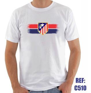 Camisa Atletico De Madrid Futebol Personalizada Com Nome