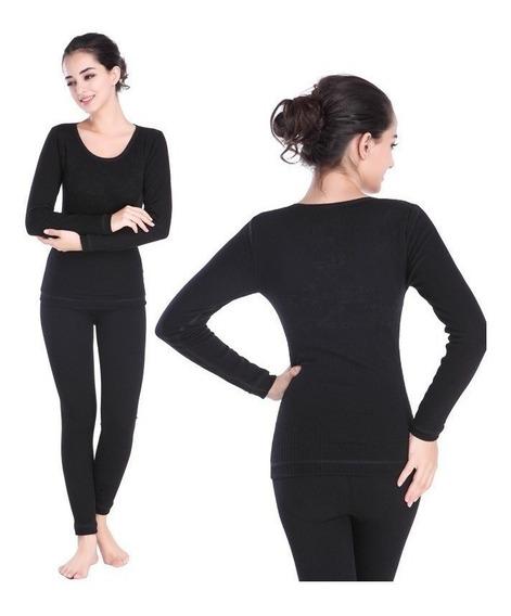 Conjunto Calça+blusa Fm Térmica Flanelada Inverno Roupa Frio