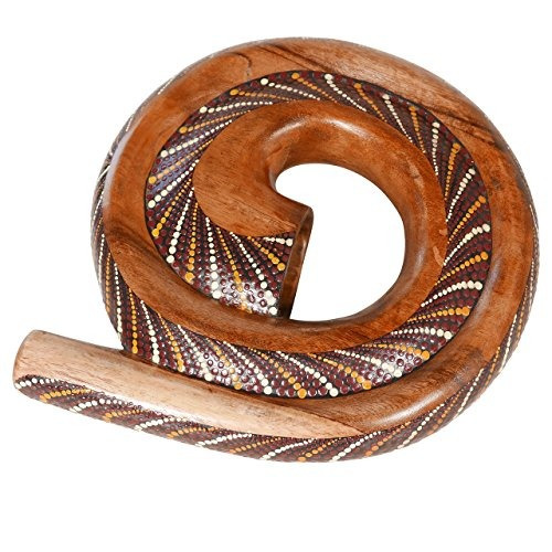 X8 Drums Painted Spiral Wood Didgeridoo With Bag (x8-didg-sp