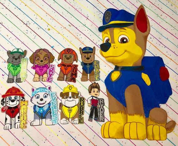 Figuras En Fomi De 20 Cm Y 1 Metro De Patrulla Canina