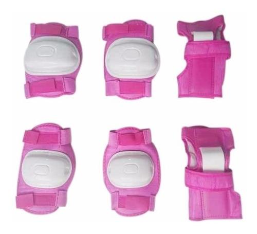 Kit De Proteccion De Patinaje Para Niña Rosado