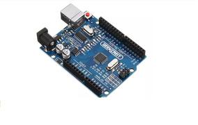 Arduino Uno Rev3 R3 Atmega328 Smd Placa Pinos
