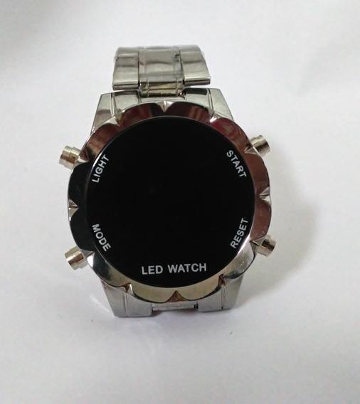 Relógio Redondo Led Com Botão