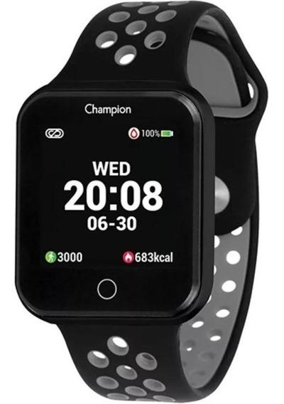 Relógio Champion Smart Watch Bluetooth 4.0 Preta/cinza