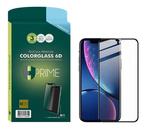 Imagem 1 de 3 de Película Hprime 6d Colorglass iPhone 11 Pro, X E Xs 5.8 Top