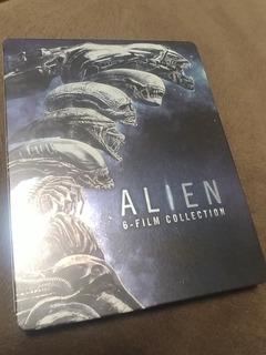 Steelbook Blu Ray Alien 6 Filmes Coleção Rara Áudio E Leg Br